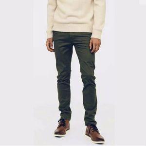 Men\s L.O.G.G. H&M Skinny Fit Stretch Chino Pants